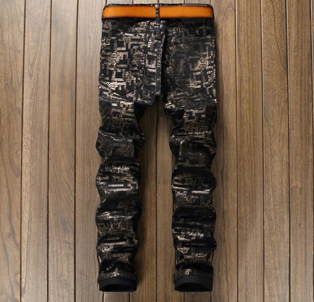 European American Style célèbre marque hommes jeans de luxe Hommes de denim pantalon jeans zipper Slim noir Discothèque sexy jeans pantalon