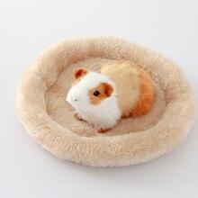 Mascota hámster durmiendo cama perro suave polar conejillo de indias cama suministros de invierno para animales jaula de animales pequeños Mat 5 colores