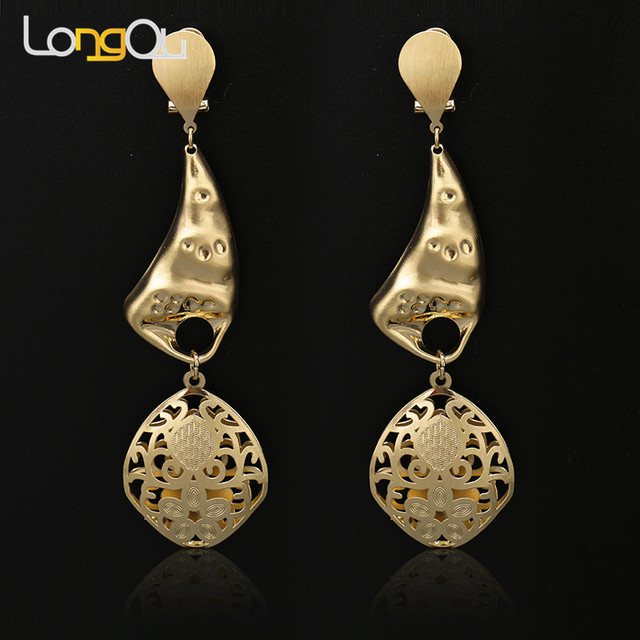 Handmade Drop Earrings For Women Fashion Bohemian Style Design Round Water Charm Wedding 2018 New