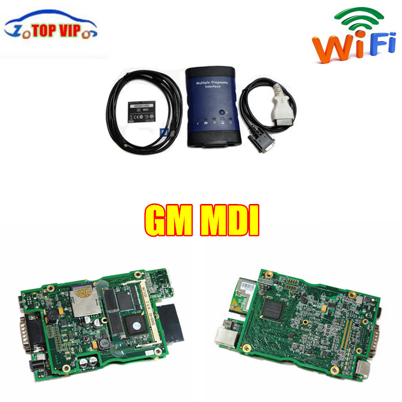 цена на DHL Free Postage Best Quality For GM MDI With WIFI Software For GM NDI For Opel mdi Car Diagnostic Tool Auto Car Scanner