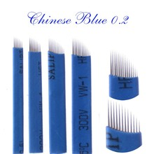 500PCS/lot Semi Permanent Makeup Manual Pen Needle 7/9/11/12/14 Needles Eyebrow Pen Microblading Needles Blades