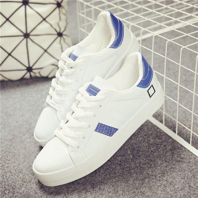 free shipping 2017 spring new fashion women shoes flats casual sport breathable PU white shoes women casual shoes