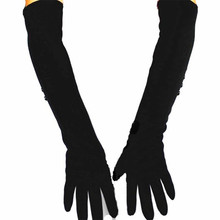 48 cm long cotton material women's knitted gloves over the elbow length armor velvet lining warm spring and autumn specials