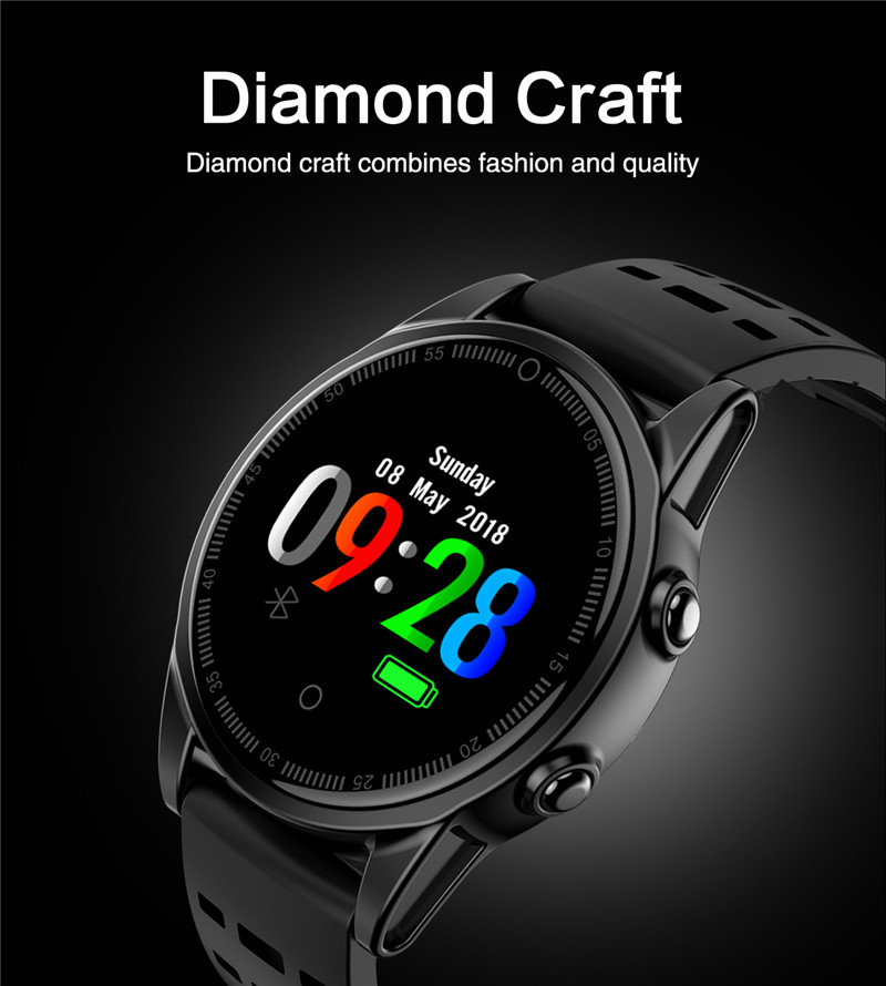 Smart watch fitness waterproof for Android IOS Diamond Craft