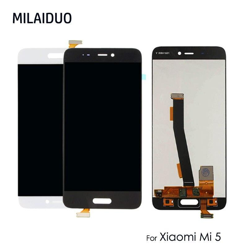 Écran LCD pour XIAOMI Mi5 Mi 5 écran tactile numériseur pièces de rechange sans cadre 5.15 pouces 1920x1080 100% testé