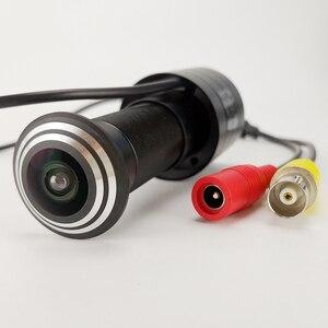 Image 4 - Mini caméra de sécurité analogique 800TVL, FishEye, grand Angle, caméra vidéo de porte, compatible avec TV, moniteur, vue directe