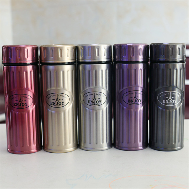 Stainless teel Vacuum flask Men Women Steel Pattern Bubble Tea Leak Office  Portable Coffee Thermoses Travel Thermos Water Bottle 11fcdd23d