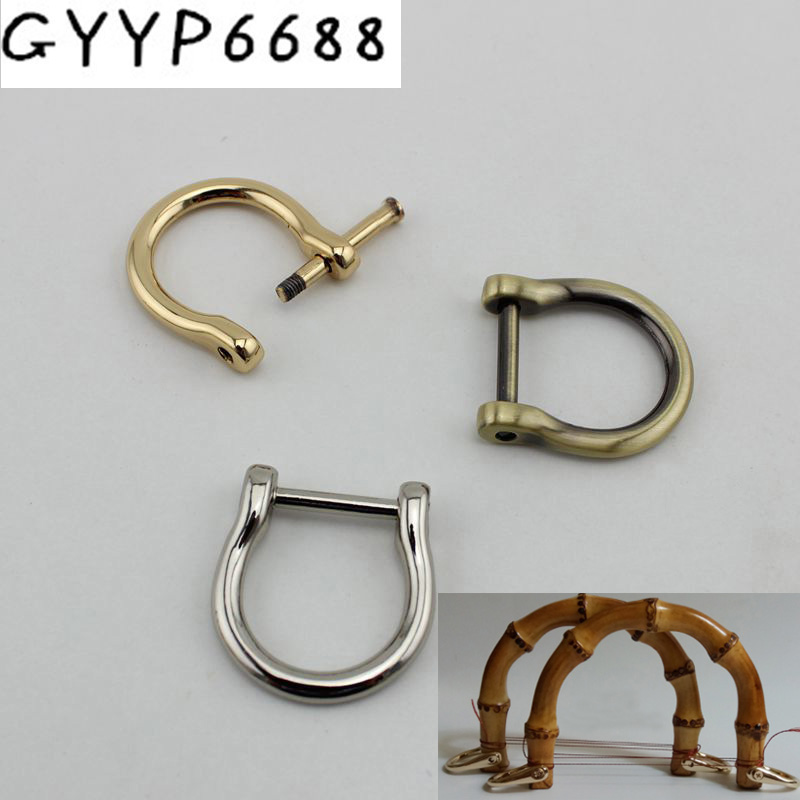 10pcs 50pcs Screw D Ring Natural Bamboo Handles For Bags Replacement,retro Hand Made Knit Bag Handbags Hardware Accessories