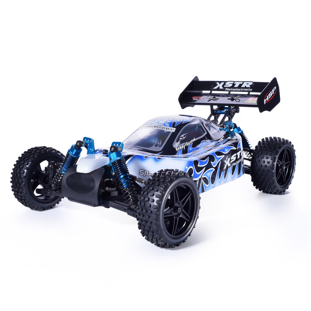 HSP Rc Car 1:10 4wd Toys Off Road Buggy 94107PRO Electric Power Brushless Motor Lipo Battery High Speed Hobby Remote Control Car 1 8 off road power combo incl tenshock x812 sensor electric brushless motor