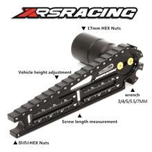 XRSRACING çok İşlevli 17mm 8mm altıgen somun kurulum aracı araç yüksekliği ayar anahtarı vida uzunluğu ölçüm RC araba için