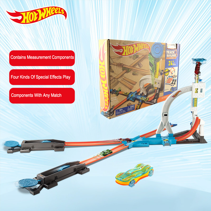 Popular Toys Realistic Hot Wheels Car Toy Four In One Track Combination Set Dlf28 Boy Toy Best Birthday Christmas Gift Relieving Rheumatism