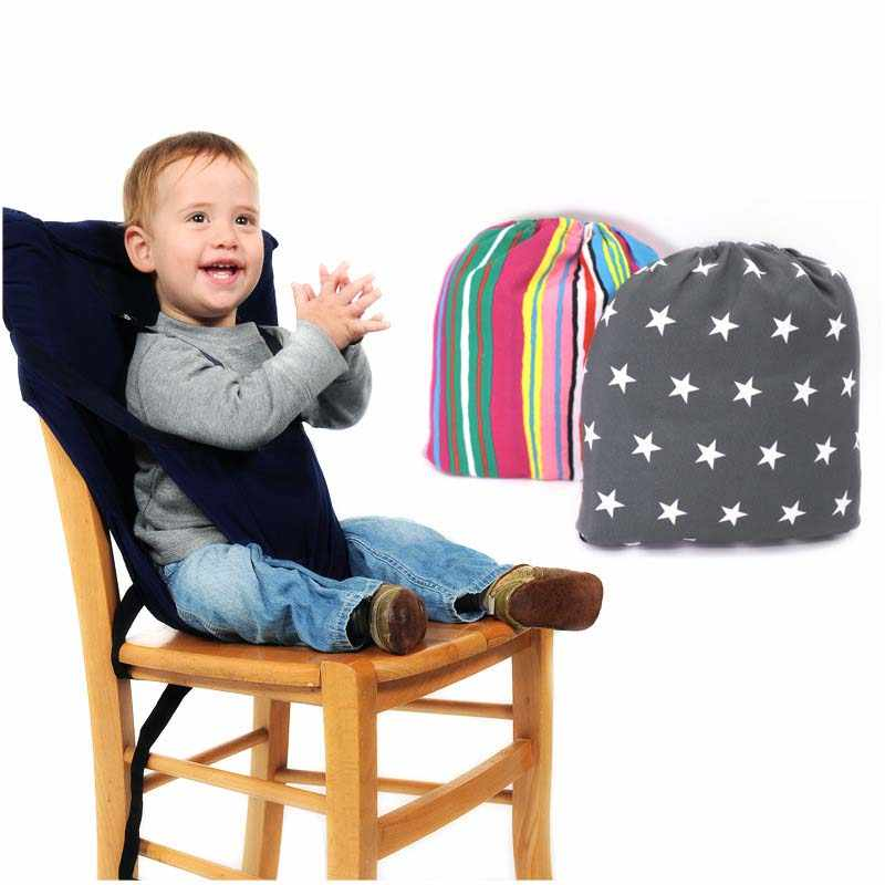 Baby Safety Chair Bag Portable Infant Seat Carrie Infant Feeding High Chair Harness Belt Portable Baby Lunch Dining Chair Travel