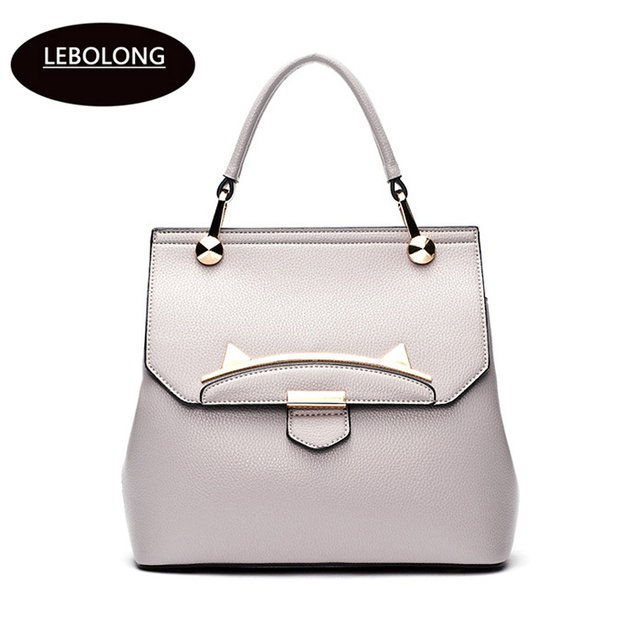 f87485a87a Lebolong Women Shoulder Bags High Quality Leather Tote Bag large capacity  Luxury Brand Lady bags Fashion