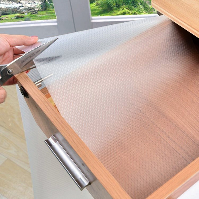 Kitchen Cabinet Lining: Table Drawer Liners Waterproof Cabinet Shelf Liner