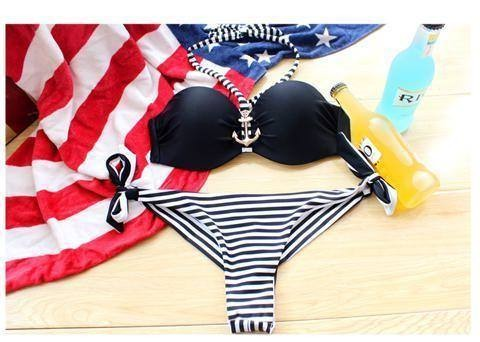 Beauty Bandeau Bra Push Up Bikini Set
