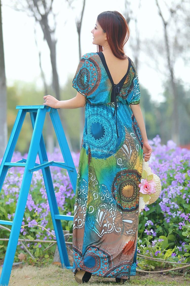 Boho Print Maxi Dress 6XL 10