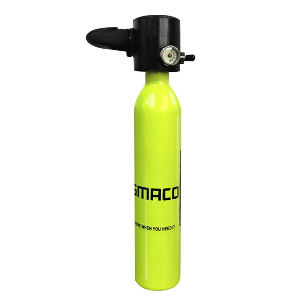 Smaco équipement de plongée Mini bouteille de plongée sous-marine réservoir d'oxygène liberté respiration sous l'eau pour 5 à 10 minutes 0.5L réservoir d'air