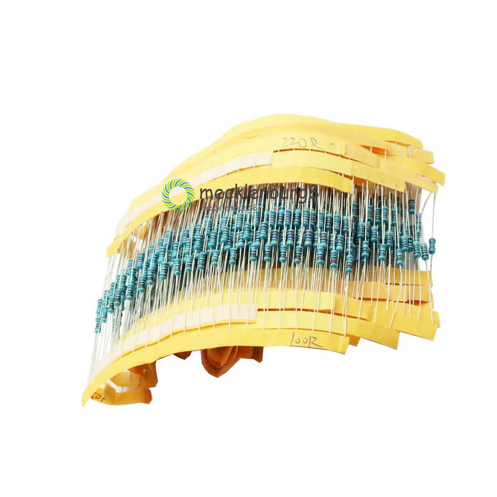 1 Pack 600 Pcs. 1/4 W Resistance 1% Metal Resistor Resistance Assortment Kit 30 Types Every 20 Pcs.