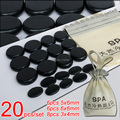 New! 20pcs/set Hot stone SE pendant set Beauty Salon SPA with bag CE and ROHS