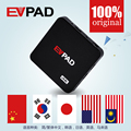 Evpad 2 s hd iptv android tv box con 1000 + gratis en vivo canales de asia malasia chino coreano japonés
