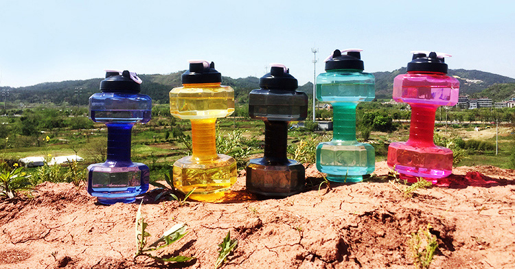 Gym Water Bottle 2.2L Dumbbell Shaped 7