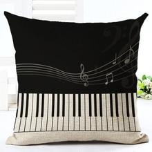 Vysoce kvalitní potah na polštářek – klávesy piana