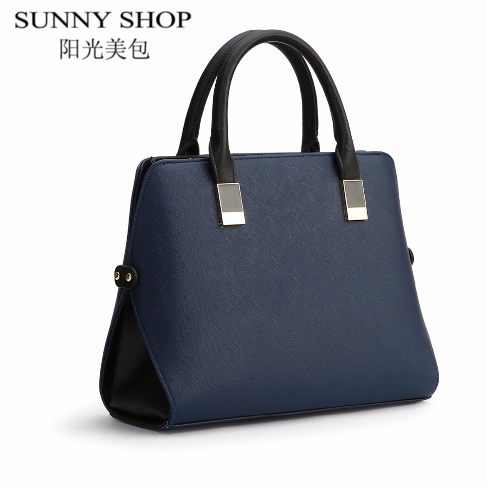 SUNNY SHOP brief leather bags handbags women famous brands shoulder bags female shell high quality women business bag sac a main