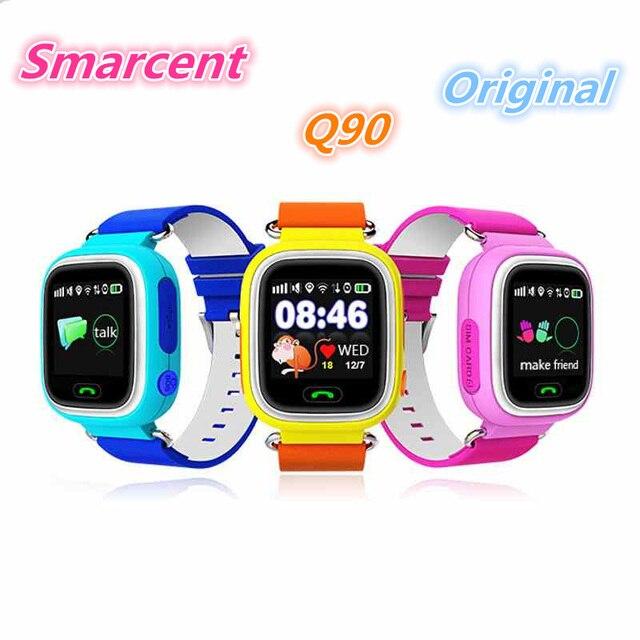 GPS Q90 Малыш Smart Watch Сенсорный Экран WI-FI Расположение Детей Смотреть SOS Вызова Finder Трек Kid Safe Anti-Потерянный Устройства Монитор ПК Q50