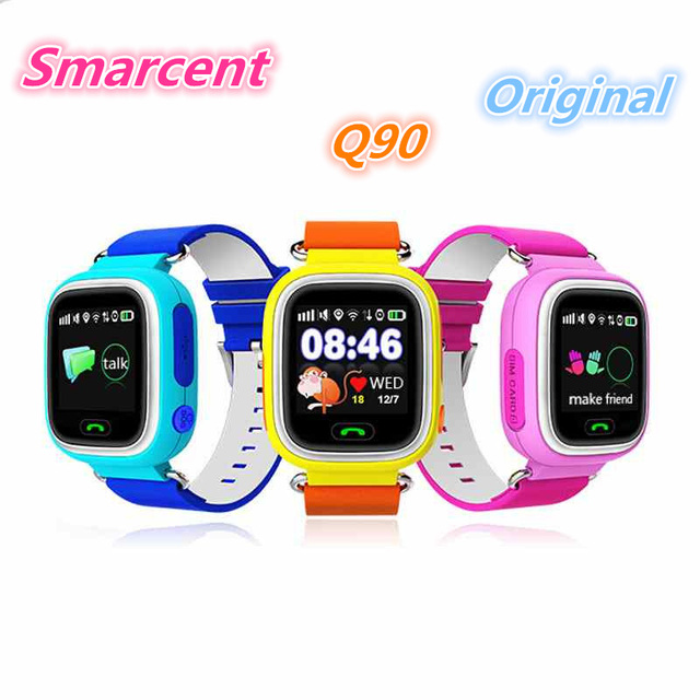Gps q90 kid smart watch touch screen wi-fi local as crianças assistem Chamada SOS Localizador Pista Criança Seguro Anti-Perdido Do Monitor Dispositivo PK Q50