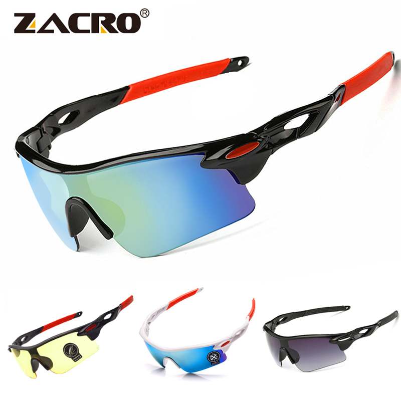 Zacro Cycling Eyewear Glasses Jaw Outdoor Sport Mountain Bike MTB Bicycle Glasses Motorcycle Sunglasses Eyewear Oculos Ciclismo(China)