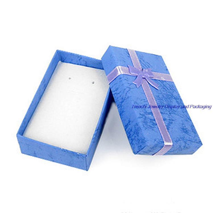 84 шт. конвертировать цвет бумаги коробки для ювелирных изделий упаковка организатор пара кольца ящик для хранения colon серьги date коньках 5*8*2.5 см