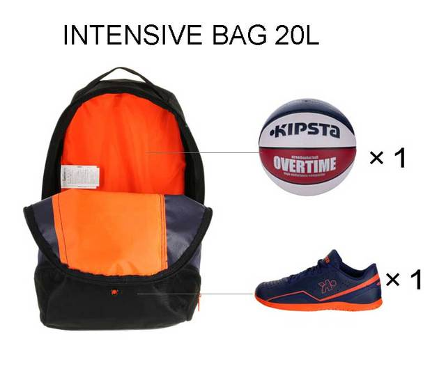 original Kipsta man woman unisex bag intensive backpack 20L sports bag  hiking camping hiking basketball bag shoes compartment f5988c081c799