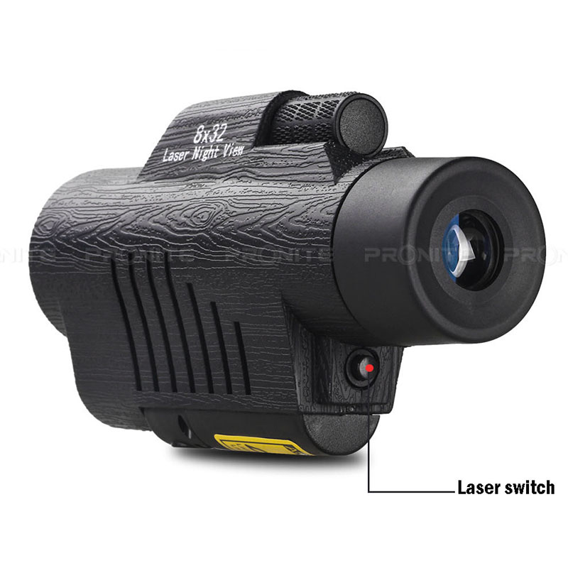 Image 2 - Professional Monocular Zoom Vision 8x32 Focusing Telescope High power HD Laser Night Vision Monocle Hunting Spyglass Night view-in Monocular/Binoculars from Sports & Entertainment