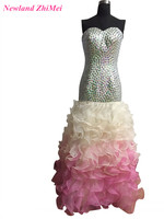 Grote Ontwerp Steentjes Prom Jurk Hot Koop Sweetheart Lace up Mermaid Formele Gowns vestidos de festa