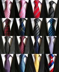 Модные галстуки классические Для мужчин полоса желтый Темно-синие свадебные галстуки жаккардовые плетёные 100% шелк Для мужчин Одноцветный