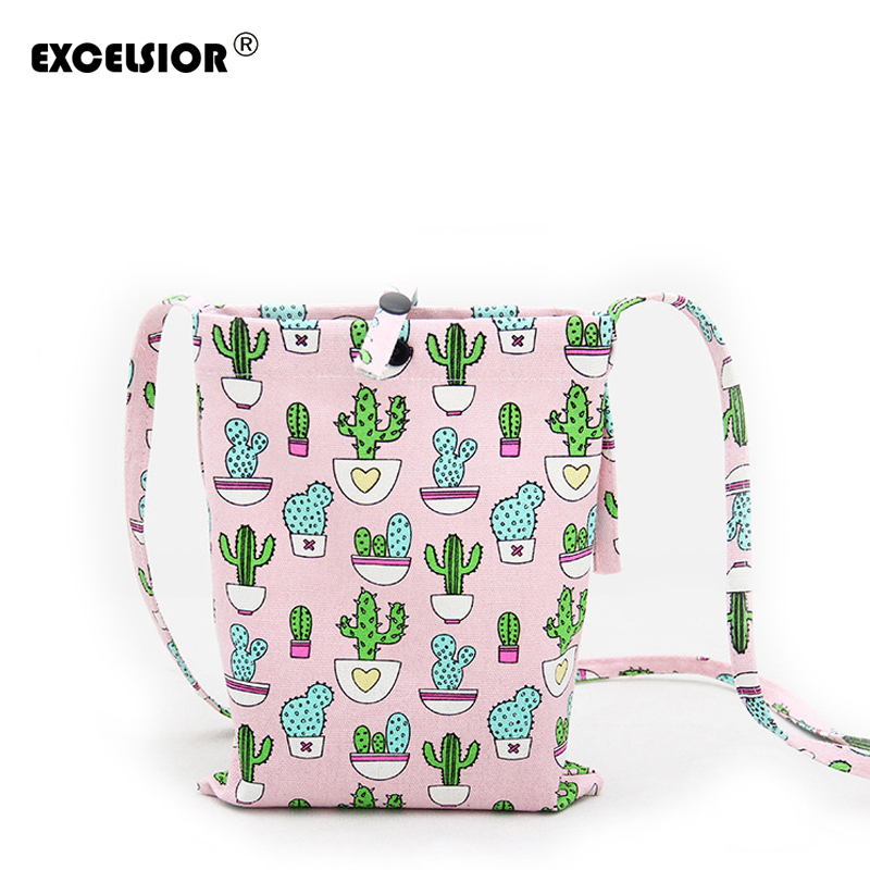 EXCELSIOR Women Casual Cotton Bags Small Crossbody Shoulder Bags Ladies Designer Shoulder Bag Mini Purses Clutches Girls Handbag