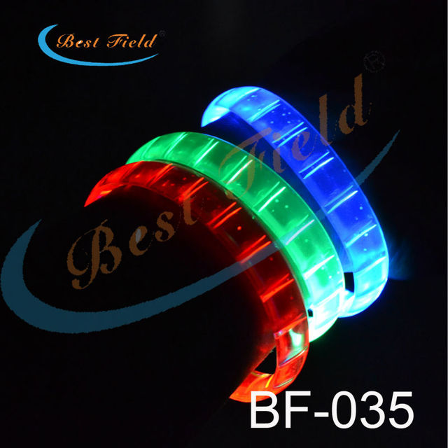 Free shipping 100/lot 24*1.5cm 5color led bracelets flashing Multicolor bracelet blinking  bracelet for party