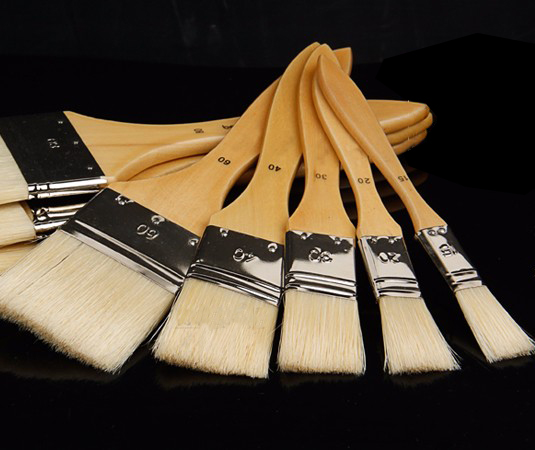 15~120mm Watercolor Oil Art Paint Brush Pig Hair Painting Brush Fit For Designer Easy To Clean Wooden Cleaning Brush2