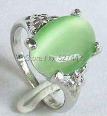 ขายส่งจัดส่งฟรี>>สวยสีเขียวหินผู้หญิงแหวนขนาด: 7, 8, 9