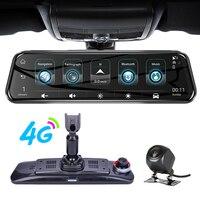 ANSTAR 10'' 4G Rearview Mirror DVR Recorder HD 1080P Auto Camera Dash Cam GPS Wifi Dual Lens Night Vision Registrar Car DVRs