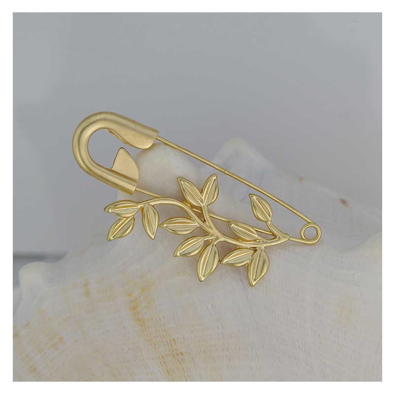 WXJCAN del metallo di modo del fiore spilla pins spille Di Sicurezza pin spilla femmina di grandi dimensioni Vintage spille per le donne spille Decorative Formato 85*35 millimetri