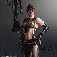Novo Metal Gear Solid 5 Quiet Action Figure Figura Do Jogo 27 cm PVC Modelo Coletar Modelo Anime Brinquedos crianças brinquedos Para presente