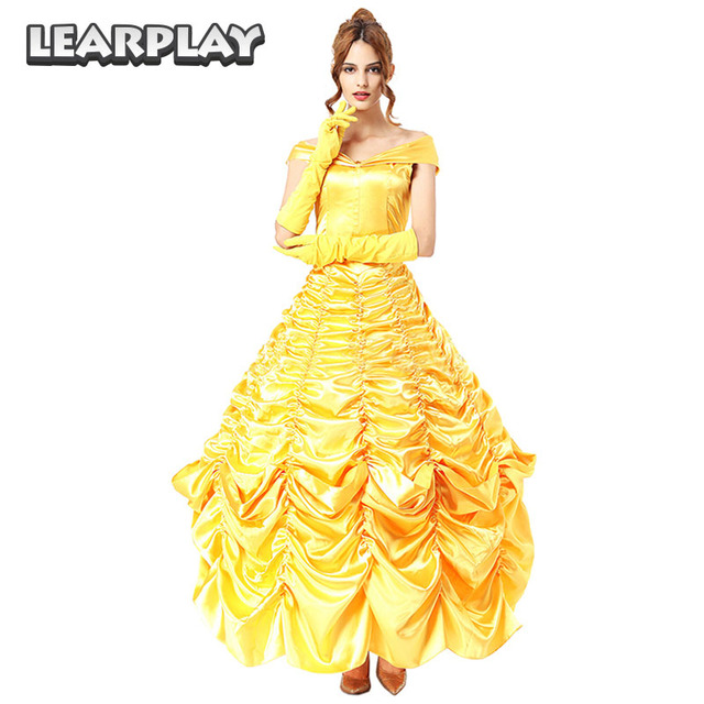 cc9c13d6e82454 Beauty And The Beast Belle Dress Cosplay Costumes Adult Women Fancy Party  Dresses Halloween Dance Princess Sc 1 St AliExpress.com