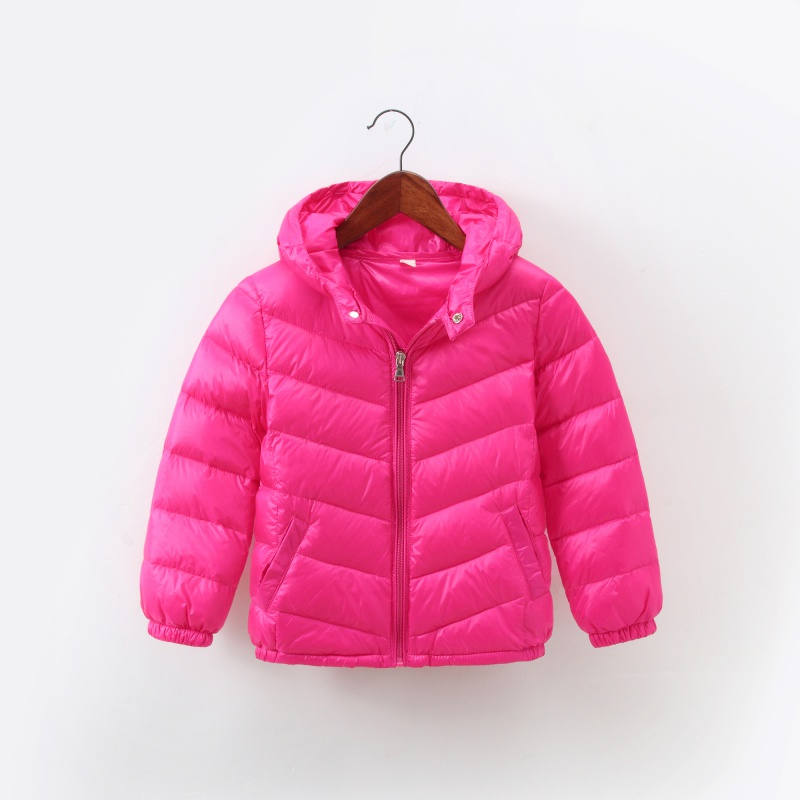 Long Sleeve Zipper Solid Color Outerwear Clothes 2-8Y Baby Boys Girls Hooded Coat Kids Winter Warm Down Jacket Coats 8 Colors children winter coats jacket baby boys warm outerwear thickening outdoors kids snow proof coat parkas cotton padded clothes