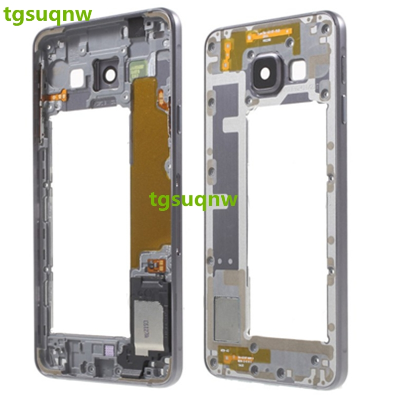 Original Middle Bezel Frame For Samsung A3 A310 A310F 2016 Mid Middle Plate Frame Housing Chassis+ Side Key Parts