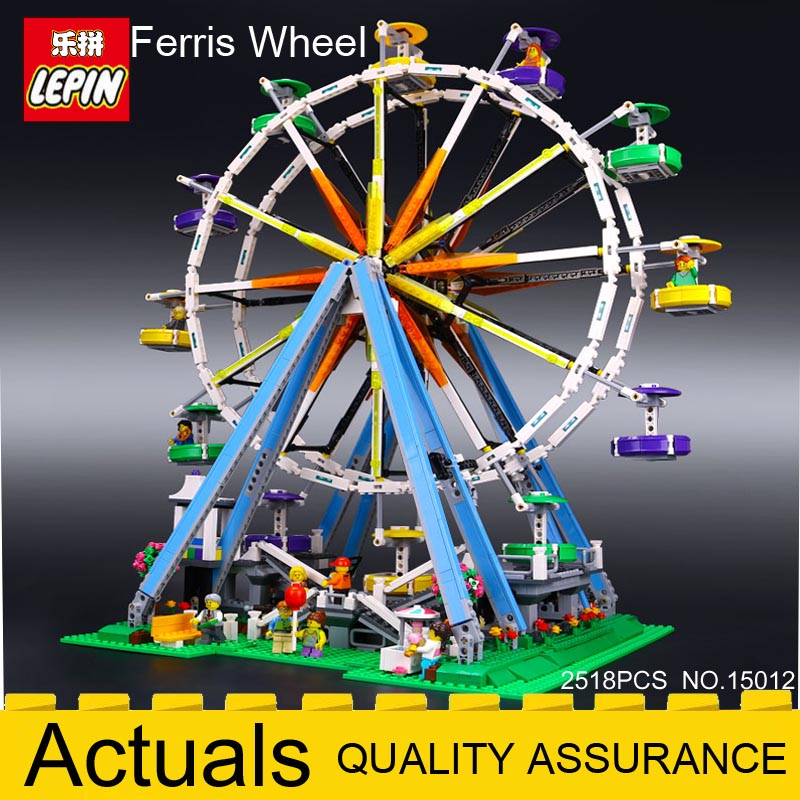 LEPIN CREATOR 15012 City Expert Ferris Wheel model building kit Assembling Bricks magnetic blocks LEGOingly 10247 DIY Funny Toys бисер preciosa с серебристой серединой цвет темно бирюзовый 57710 10 0 5 г