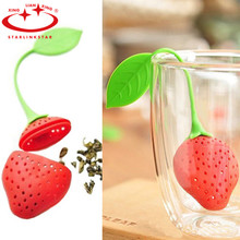3pcs/lot Tea strainer for tea Leaf lovely Silicone Strawberry tea bag ball sticks Loose Herbal Spice Infuser Filter tools stainless steel tea ball tea infuser black tea strainer fda approved loose leaf herbal brewing tools