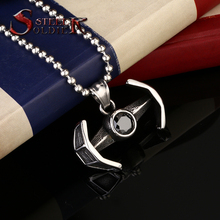 steel soldier 2016 new style high quality men fashion titanium movie style stars war pendant  necklace exquisite jewelry