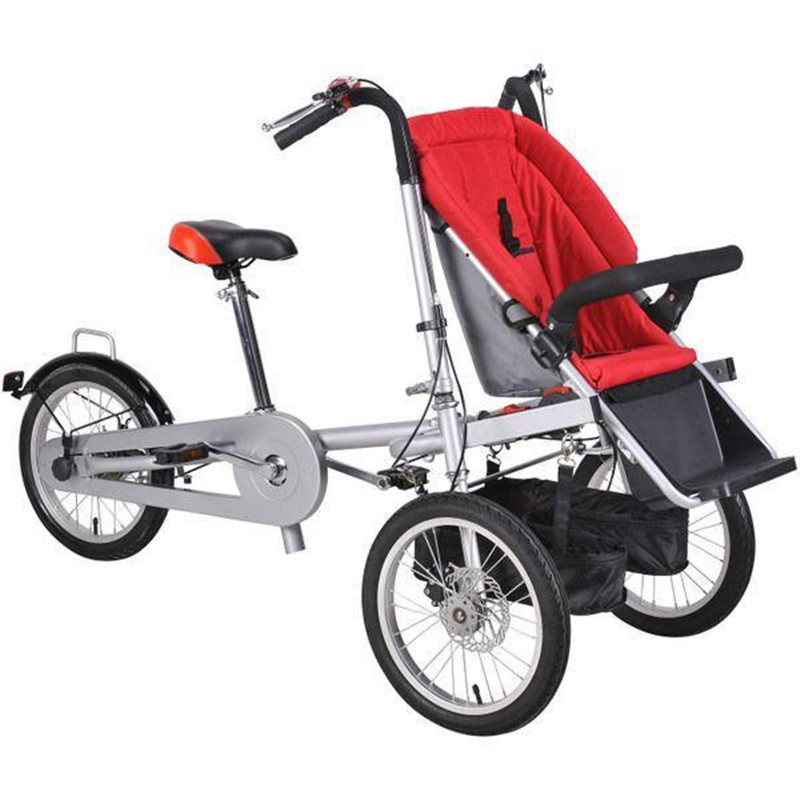 2017 Brand New Baby And Mother Bike Stroller 3 Wheel Baby