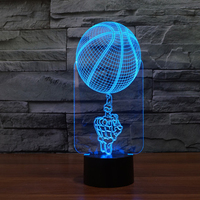 Basketball Night Light Designs Amazing Led Table Lamp Night Lighting 7 Color Changing Led Lights for gifts